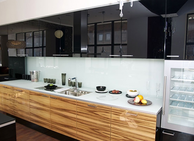 Black kitchen cabinetry