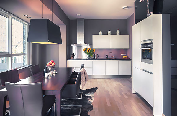 Condominium kitchen.