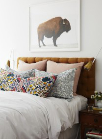 Bedroom ideas for patterned fabrics