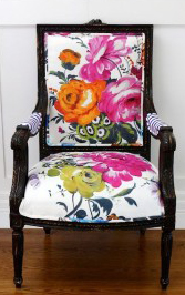 Colorful printed chair fabric