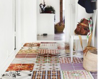 Interior decorating ideas for colourful patterned tiles selection